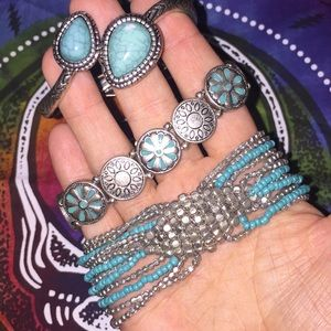 Three World Market bracelets